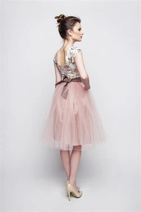Standesamt Kleid by Standesamt Kleid Rosa Braun Kurz Mit T 252 Llrock Kleiderfreuden