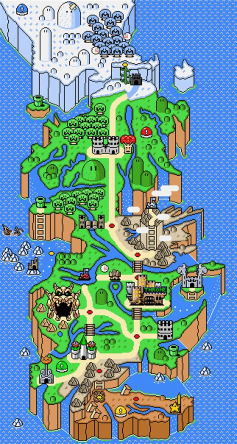mario world map of thrones x mario bros hejorama