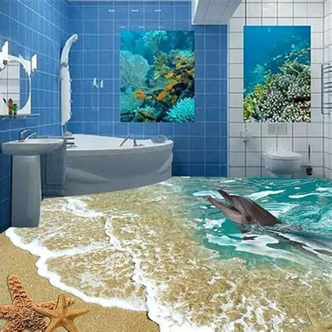 3d Tiles Price In India Per Square by Custome 3d Floor Tiles Sea Toilet 80x80cm Bathroom Wall