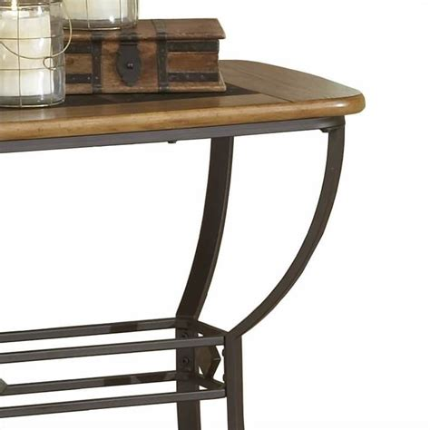 slate top sofa table hillsdale lakeview slate top console sofa table in brown