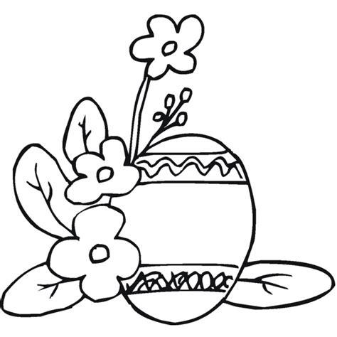 disegni di piante e fiori disegno di uova di pasqua con fiori da colorare per