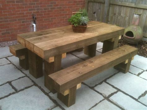 the bench pub sleeper table idea craft diy pinterest gardens