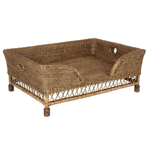 wicker beds rattan mattaban pet bed large oka