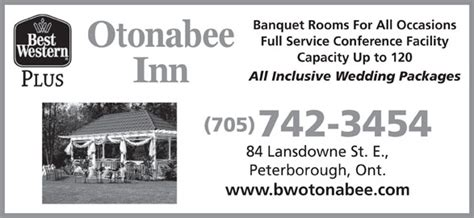 all inclusive wedding packages ontario best western plus 84 lansdowne st e peterborough on