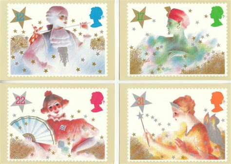 Where To Use Post Office Gift Card - collectable cards u k post office set of 5 christmas pantomime characters cards 1985