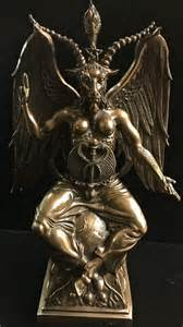 baphomet statue cold cast bronze celtic jackalope