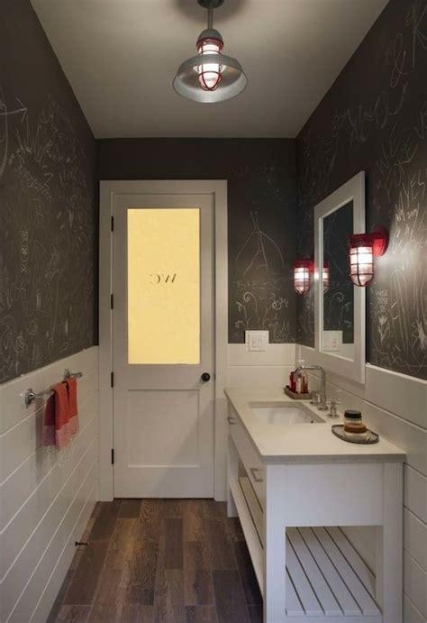 chalkboard wall bathroom transitional bathroom