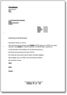 Musterbrief Zur Abmeldung Der Gez Gebührenpflicht Abmeldung Der Deutschen Rentenkasse Rentenversicherung De Musterbrief