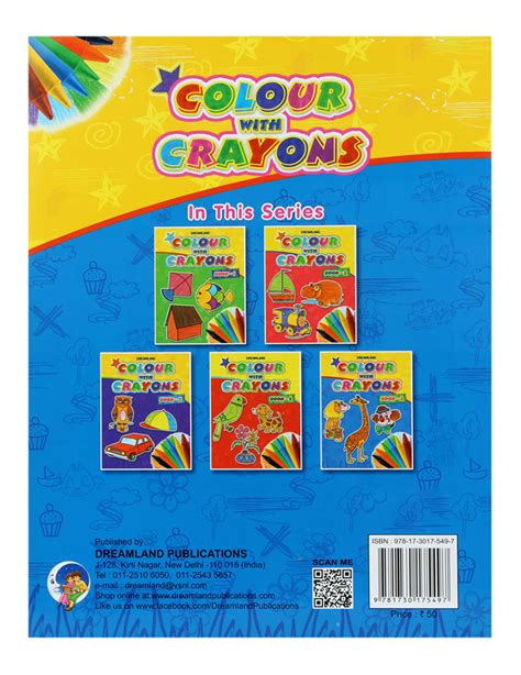 crayon picture book buy colour with crayon book part 5 in india