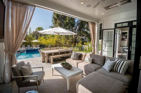 covered patio curtains slipcovered outdoor sectional with pink and blue outdoor