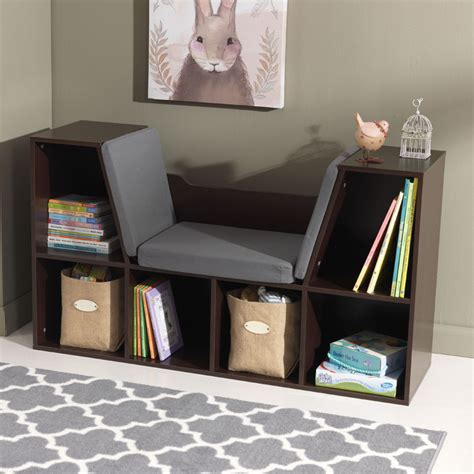 bookcase with reading nook espresso by kidkraft