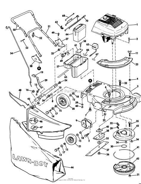 lawn boy mower parts diagram lawn boy 5080 lawnmower 1972 sn 200000001 299999999