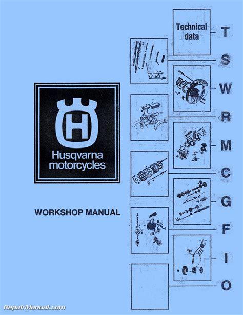 Husqvarna CR WR RT Motorcycle Manual 125 175 250 360 390