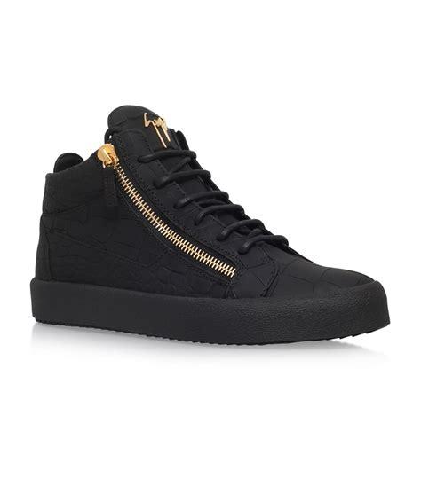 giuseppe mens sneakers giuseppe zanotti matte croc embossed sneakers harrods