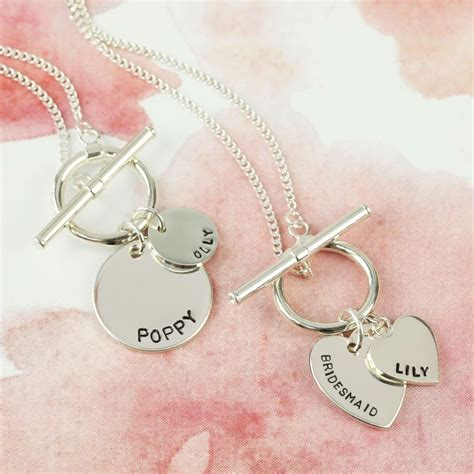 Makeup Jewelry Charming Or Disaster Waiting To Happen by Personalised Sterling Silver Toggle Charm Necklace