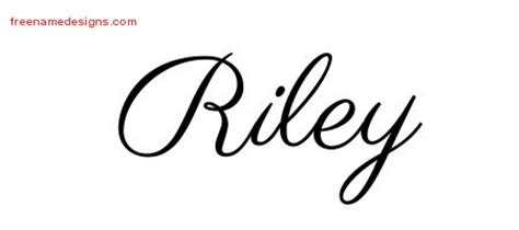 riley name tattoo design classic name designs graphic free
