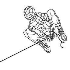 spiderman rope swing top 33 free printable spiderman coloring pages online