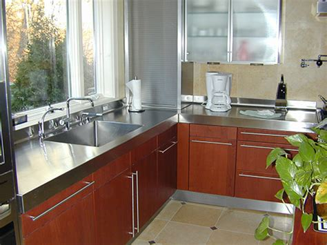 stainless steel countertop brooks custom how to choose a metal countertop for your kitchen