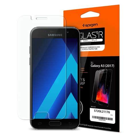 Tempered Glass Samsung Galaxy A3 2017 A 3 New spigen 174 glas tr slim samsung galaxy a3 2017 premium tempered glass screen protector spaceboy