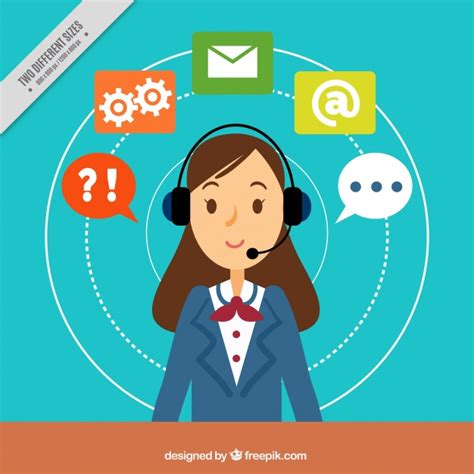 background image center background with callcenter vector free