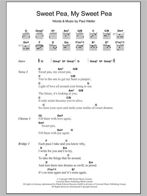 Sweet Pea Guitar Chords