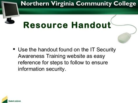 Nvcc Help Desk by It Security Awarenesss By Northern Virginia Community College