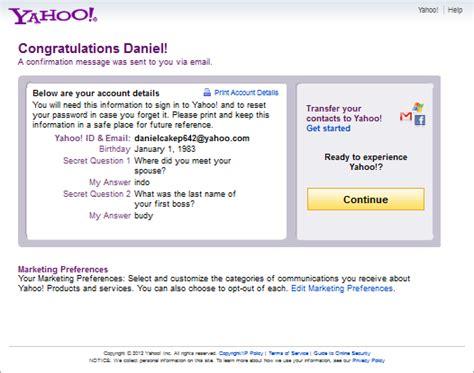 membuat yahoo com baru membuat email yahoo baru