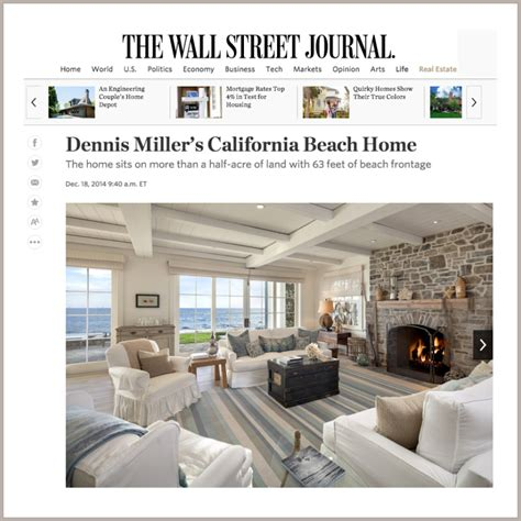 wall street journal real estate section in the news riskin partners the 1 team in montecito