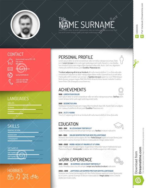 Best Resume Templates In Word Format by Cv Resume Template Stock Illustration Image 50832935