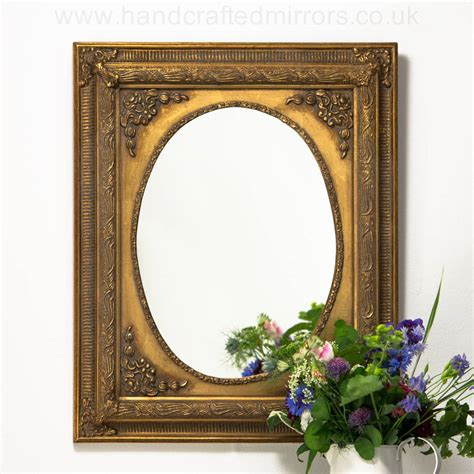 Handcrafted Mirrors - oval painted mirror by crafted mirrors