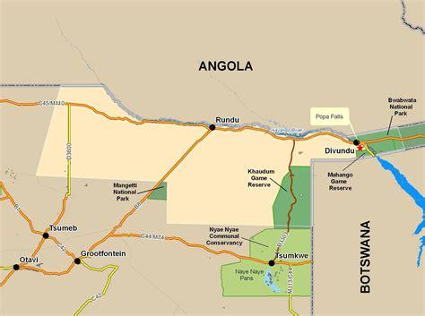 tracks4africa namibia map mahango gr tracks4africa