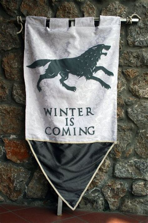 House Stark Banner by The Two Of And Thoughts On