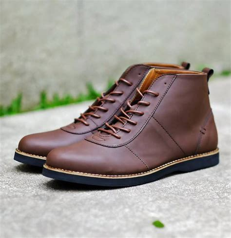 sepatu circle 03 brown sepatu chukka alpha brown mall indonesia