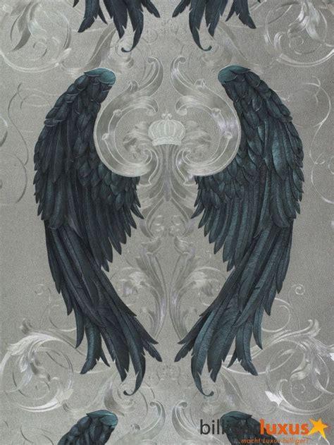 wallpaper angel craft harald gl 246 246 ckler wallpaper silver blue angel wings crown