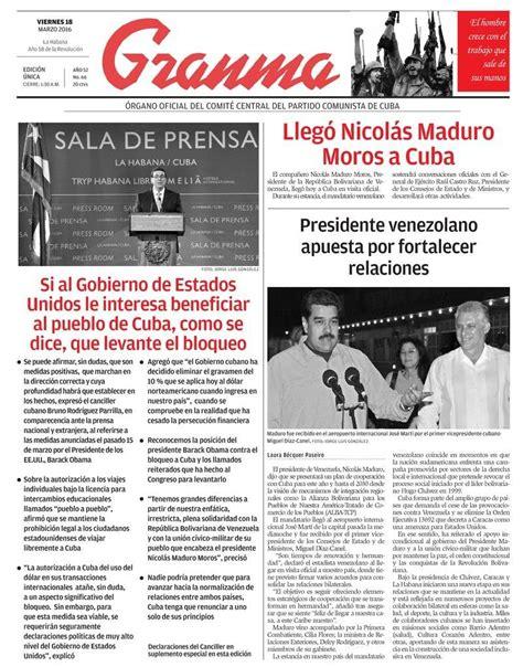 noticias de asignaciones familiares para marzo de 2016 qu 233 trae la prensa cubana viernes 18 de marzo de 2016