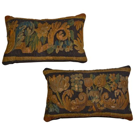 Antique Pillows by Pair Of Antique Aubusson Tapestry Pillows At 1stdibs