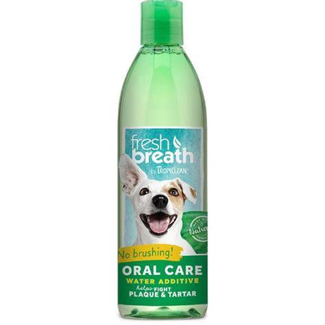 water additive for breath tropiclean fresh breath water additive 16oz 473ml from ocado