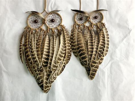 dreamcatcher feathers ready made owlbert single feather mini owl