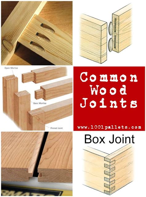 common types  wood joints    types