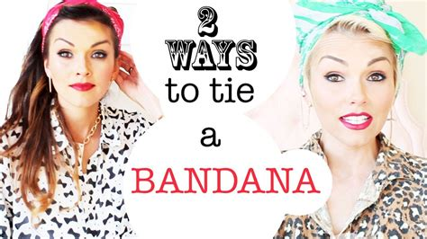 different ways to wear a bandana with short hair how to tie a bandana 2 ways in your hair kandee johnson