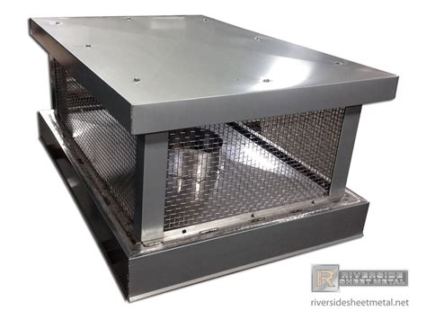 Fireplace Cap by Custom Zinc Chimney Cap With Flat Roof Ch019