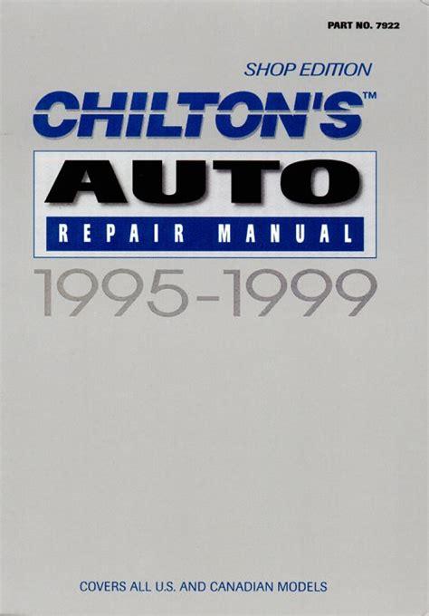 service manual chilton car manuals free download 1999 toyota 4runner electronic throttle blog posts trackerinternational