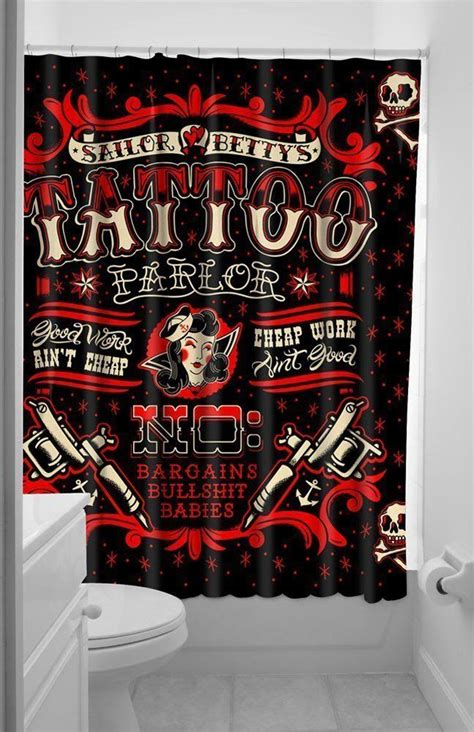 sailor betty shower curtain 25 best home decor rock n roll living room images on