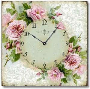 Chic Home Design Bedding Shabby Chic Romantic Roses Wall Clock