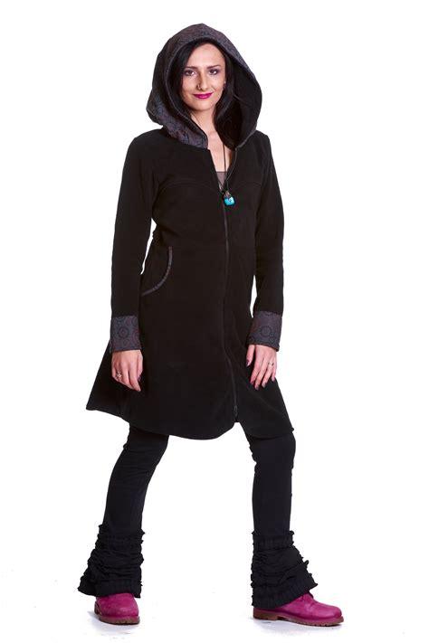 Fleece Coat large hooded fleece coat bohemian hippie boho coat