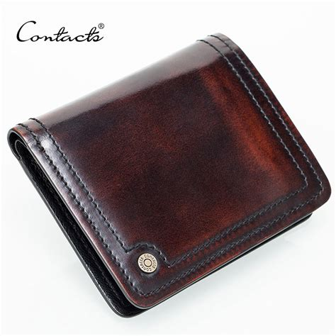 Handmade Mens Wallet Leather - small leather wallet handmade burnished italy leather