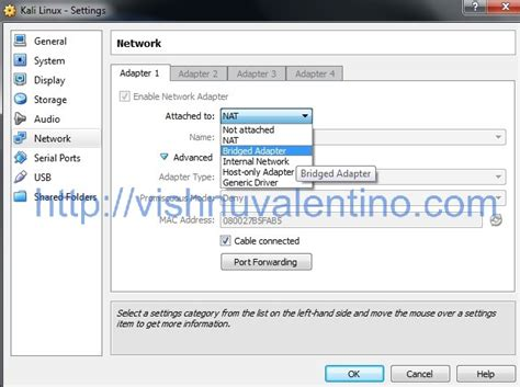 kali linux virtualbox image tutorial how to enable the network in kali linux virtual box