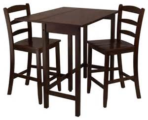 Drop Leaf Pub Table Lynnwood 3 Pc Drop Leaf High Pub Table Set Contemporary Dining Sets By Shopladder