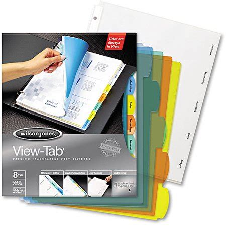 templates wilsonjones gallery of wilson jones view tab transparent dividers 8