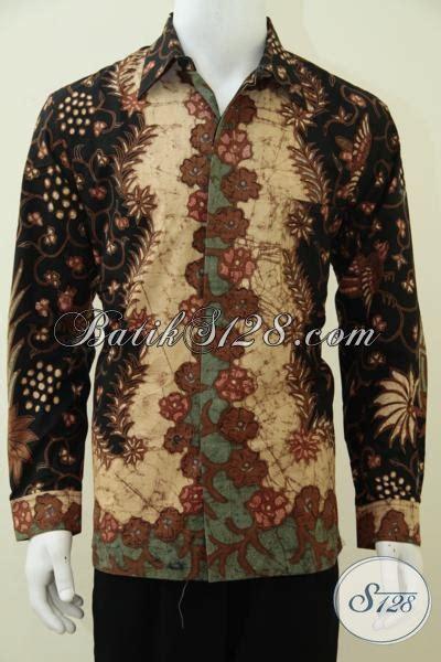 kemeja batik klasik terkini dengan daleman furing